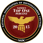 National Association of Distinguished Counsel | Nation`s top one percent | 2015 | NADC